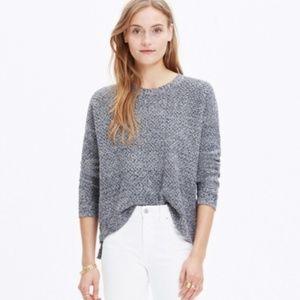 Madewell Landmark Knit Texture Sweater Gray M